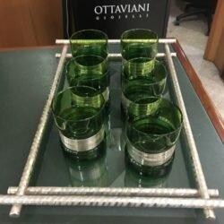 bicchiere vetro argento
